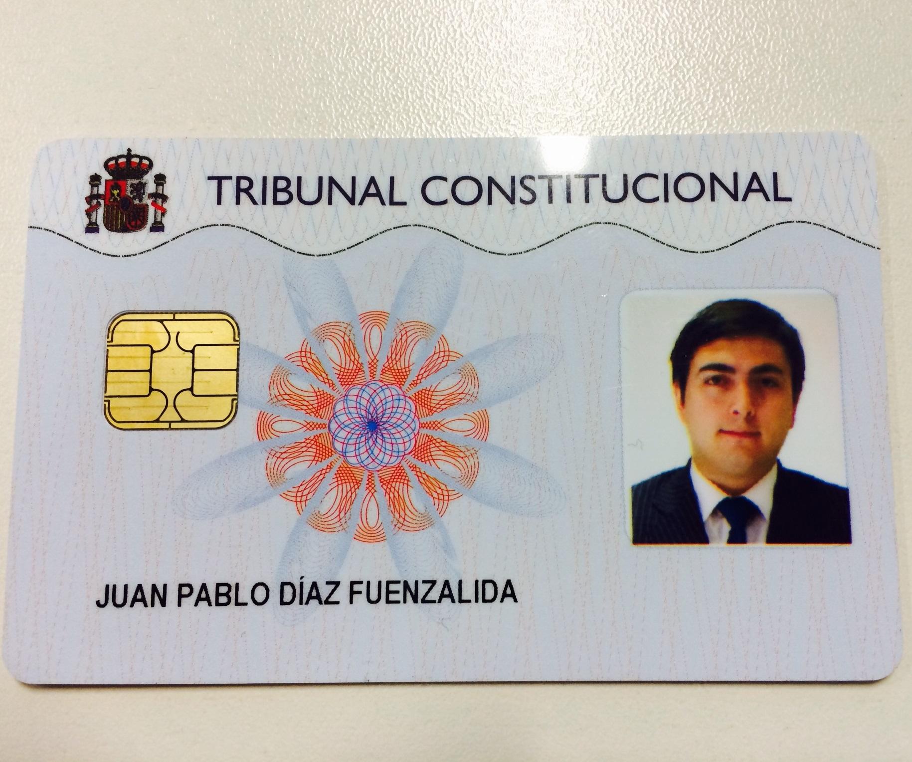 Ex alumno de Derecho realiza pasantía en Tribunal Constitucional de ...