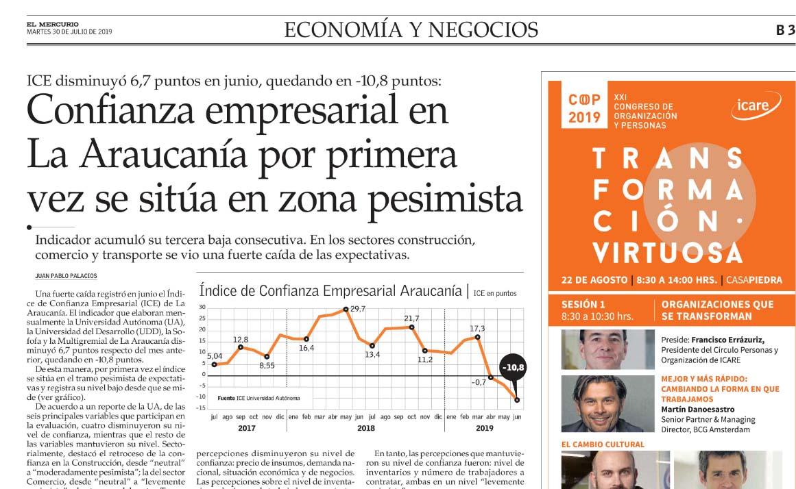 Entrevista Diario El Mercurio