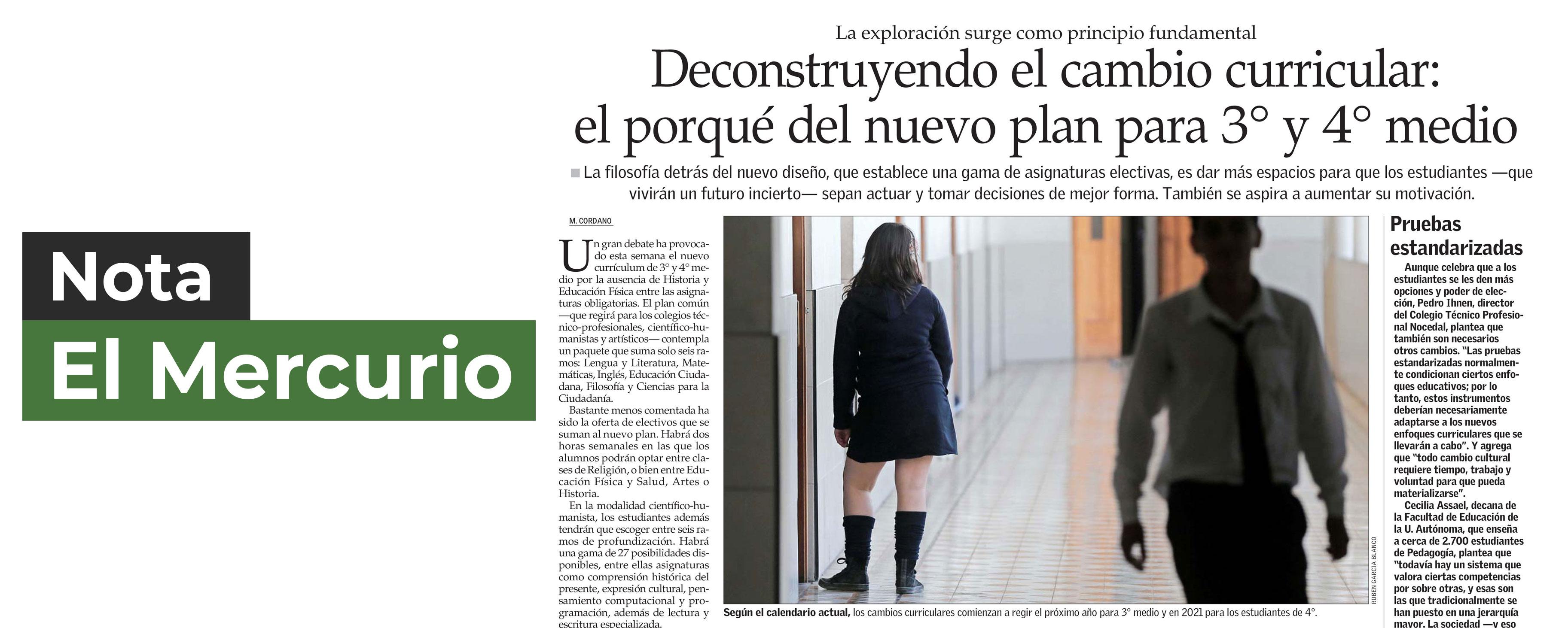 Nota El Mercurio | Deconstruyendo el Cambio Curricular