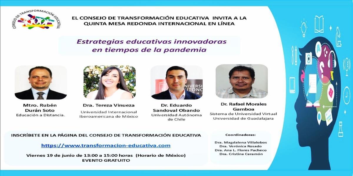 Investigador de la U. Autónoma participa como expositor en Mesa Internacional del Consejo de Transformación Educativa