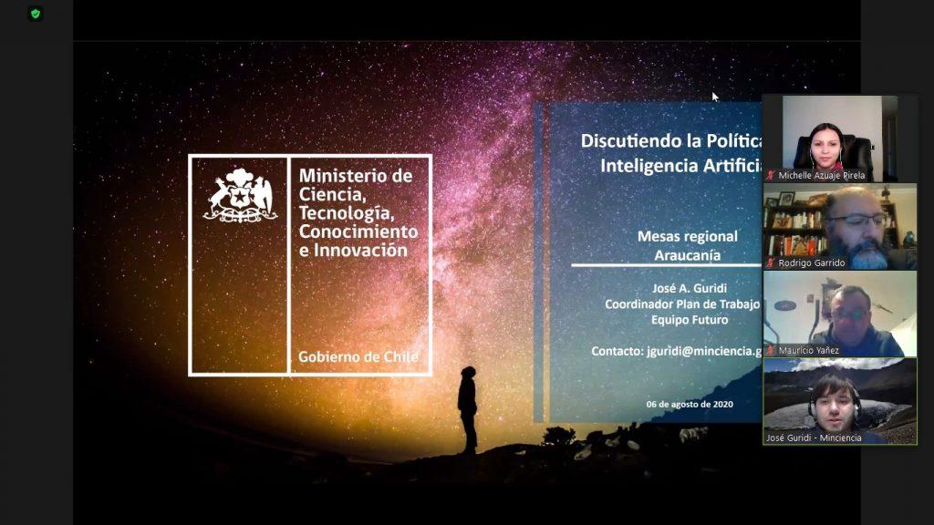 Coordinadora del proyecto IA+D participa en mesa de trabajo de la Región de La Araucanía sobre la Política Nacional de Inteligencia Artificial