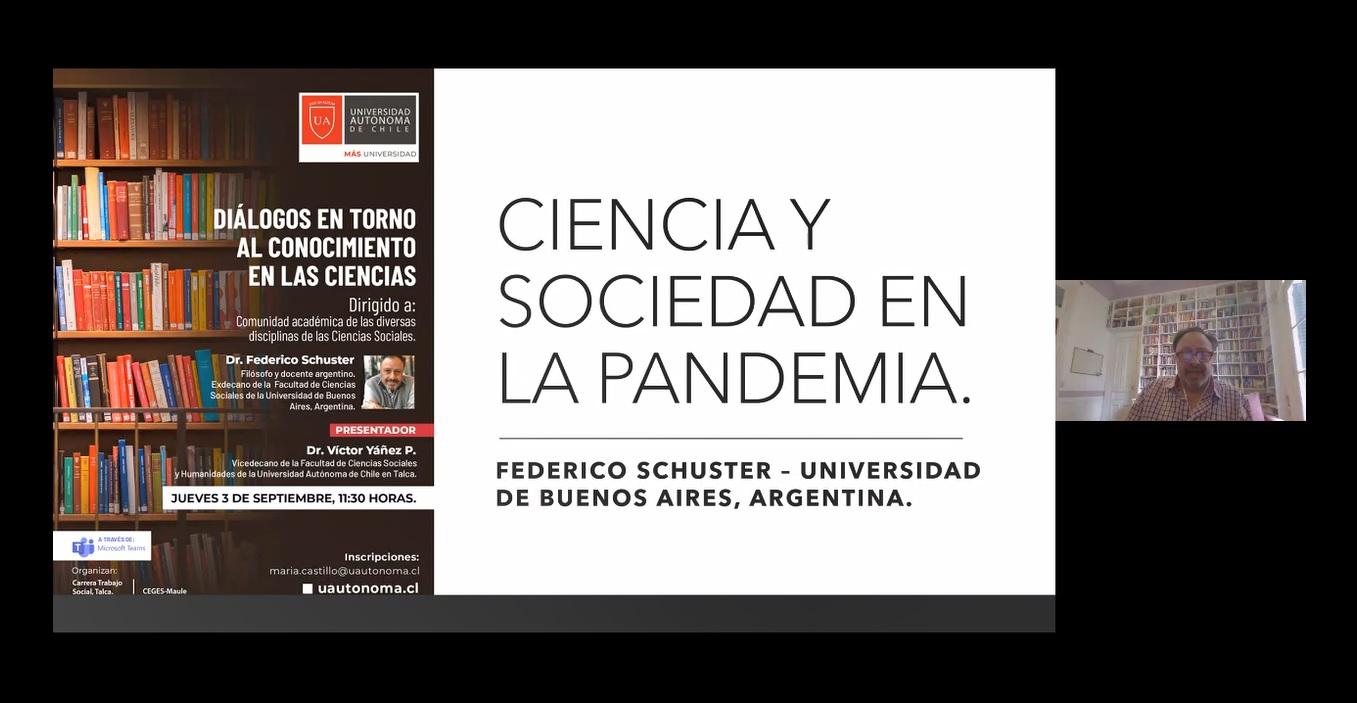 Filósofo argentino analiza el rol de las ciencias sociales en la pandemia en encuentro con U. Autónom