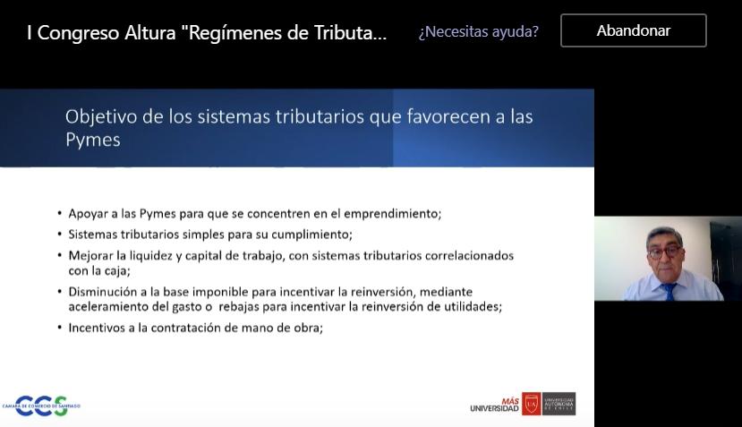 Auditoría e Ingeniería en Control de Gestión analiza los regímenes tributarios chilenos con destacados expositores