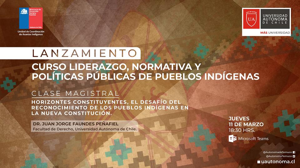 Alianza permitirá capacitar a nuevos líderes indígenas de La Araucanía