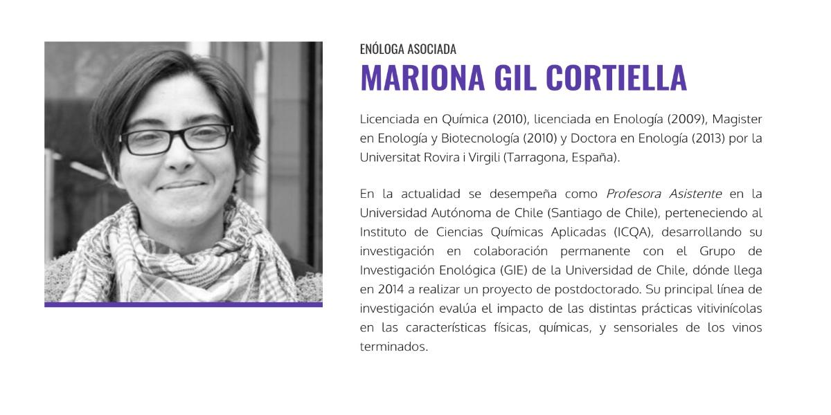 Dra. Mariona Gil participará en Seminario Multimodular Enovitícola para formar y acreditar a los futuros enólogos