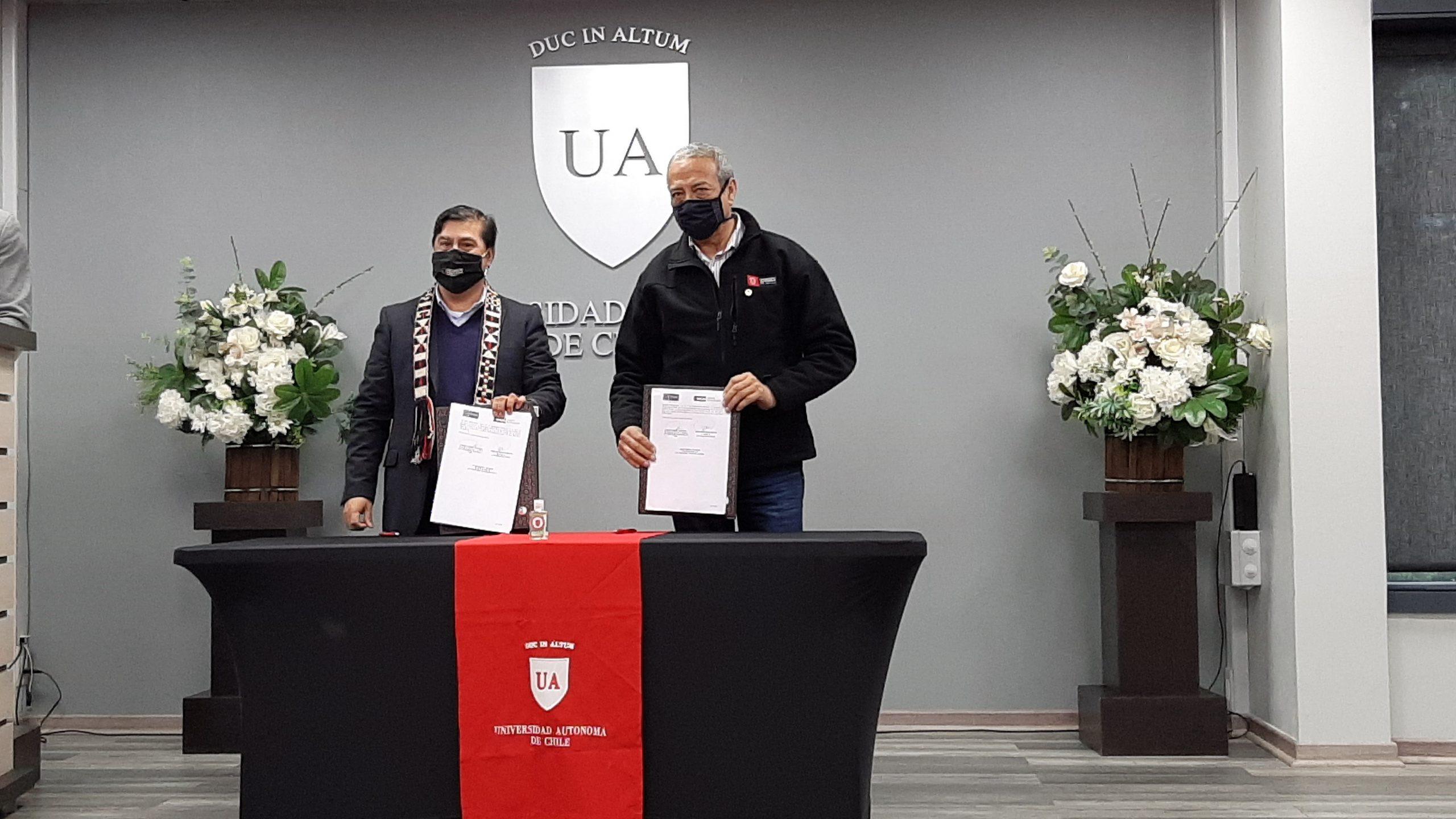 U. Autónoma y Corporación Kimün firman convenio de colaboración orientado al desarrollo, la innovación y crear valor en La Araucanía