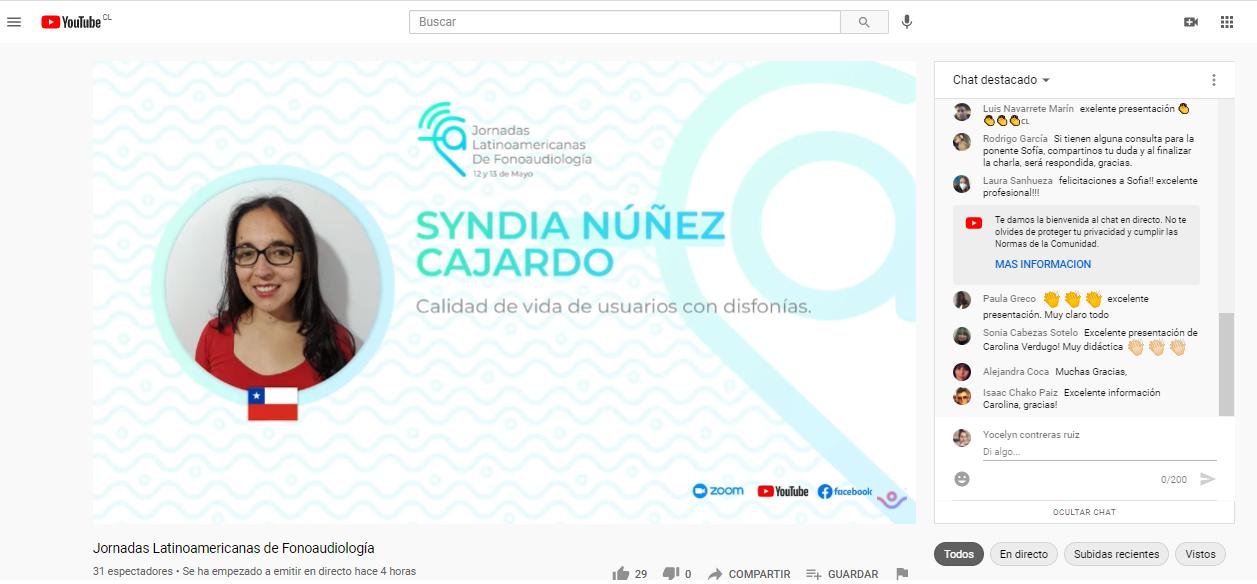 Docente de la Universidad Autónoma participó en las Jornadas Latinoamericanas de Fonoaudiología