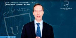 Universidad Autónoma de Chile inaugura su año académico 2021 con magistral clase del Dr. Mario Alonso Puig